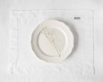 Amazing white Linen Placemats, Fabric Placemats, Cloth Placemats, Table Placemats, Table Linens, table linens.
