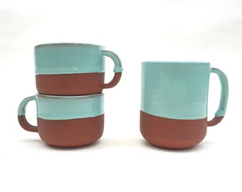 Ceramic Two Tone Red Clay Mug