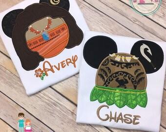 Brother Sister Moana Maui Disney Shirts, Moana Maui Disney Matching Shirts, Personalized Sibling Disney Shirts, Family Vacation Shirts