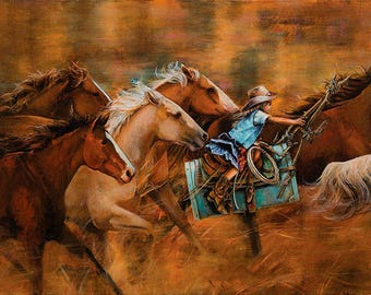 American West Limited Edition Giclee' print on canvas