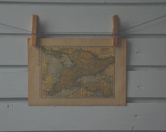 1929 Vintage Ontario Map