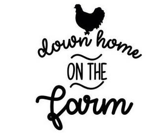 Down home on the farm chicken t shirt