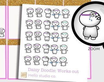 Fitness planner stickers work out planner stickers fitness tracker