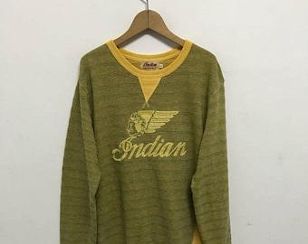 20% OFF Vintage Indian Motorcycle Embroidery Big Logo Sweatshirt/Cafe Racer/Indian Motocycle Clothing