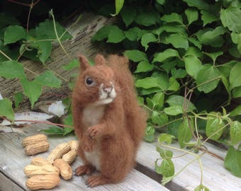 Needle Felted Squirrel. Animal. Made to Order