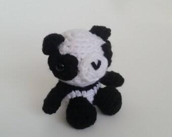 Panda Bear Amigurumi Mini Pet, Panda Crochet Stuffed Animal, Cute Panda Bear, Plush Panda, Forest Nursery Decoration Toy