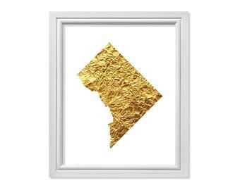 Washington DC print, Washington DC art, gold foil art, Washington dc Poster, Washington dc Map, Map Art, Map Print, Washington DC Decor