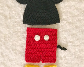 Crochet Mickey Mouse Set