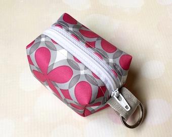 Custom Ju-Ju-Be Pink Pinwheels Keychain EOS Holder Boxy Zip Pouch