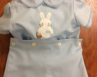 Bunny Initial Button-On