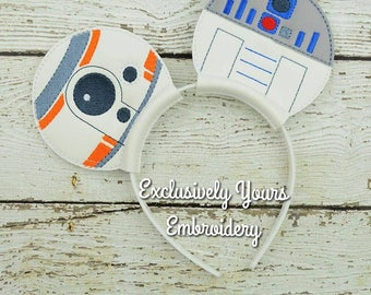 Star Robots Inspired Mouse Ears Headband - Photo Props