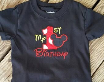 1st Mickey Birthday Shirt