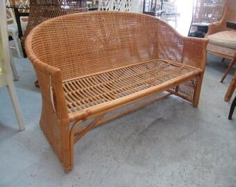 Island Style Bamboo Settee