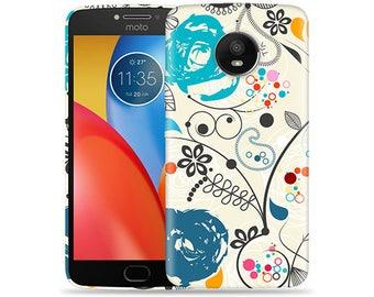 Motorola Moto E4 Case - Motorola E4 Case #Paisley Artwork Hard Phone Cover