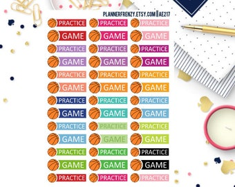 39 Basketball Game and Practice Planner Stickers! AE217