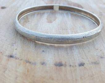 Sterling Silver Greek Key Bangle bracelet