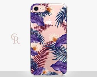Floral Clear iPhone 7 Plus Case - Clear Case - For iPhone 8 - iPhone X - iPhone 7 Plus - iPhone 6 - iPhone 6S - iPhone SE Transparent
