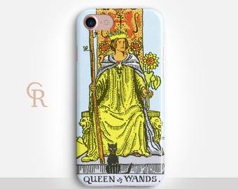 Tarot Phone Case For iPhone 8 iPhone 8 Plus iPhone X Phone 7 Plus iPhone 6 iPhone 6S  iPhone SE Samsung S8 iPhone 5 Spiritual Queen of Wands