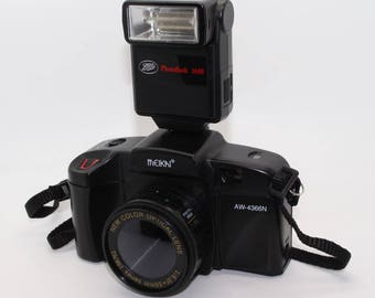 Meikai AW-4366N 35mm Film Toy SLR-Style Camera with flash and case – Very good condition and tested