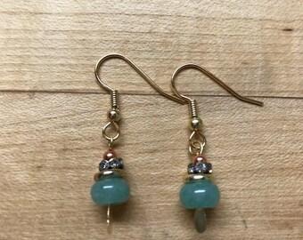 Aventurine sparkling earrings
