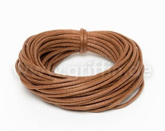 SALE 15% OFF 5m waxed cotton, 1mm, light brown, 5m, cotton tape, jewellery band, Griffin, jewelry, cord, Ribbon, cord, waxed Ribbon, jewelry