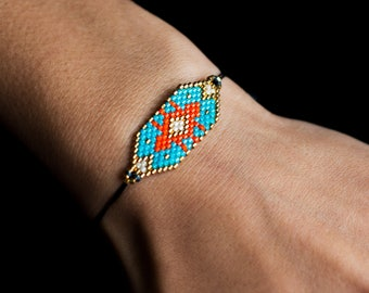 Gold & Turquoise Beaded Bracelet/boho Jewellery/Beaded Bracelet/Gold Beaded Bracelet/Turquoise beaded bracelet/gifts for her/gifts