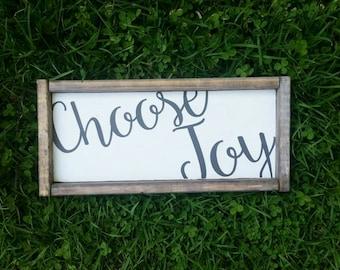 Small  choose Joy Sign