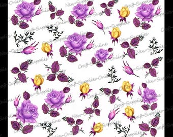 Antique pink transfer yellow and purple
