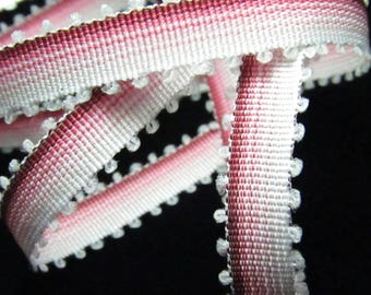 1 tape measure 8mm STRIPED pink childrens