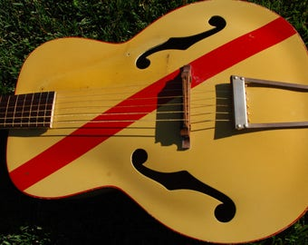 super rare kay  futuramic  deville  guitar original early 1950s
