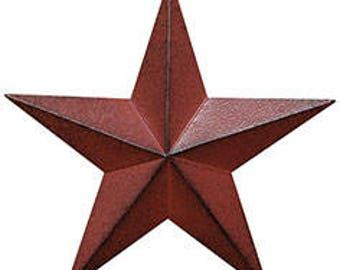 Burgundy Barn Star, Americana Barn Star, Rustic Burgundy Barn Star, Primitive Barn Star, Americana Decor, Primitive Decor, Farmhouse Decor