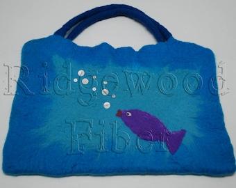 Wet Felted Fish Bag (med)