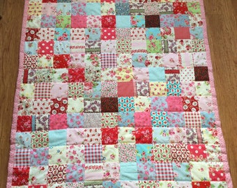 Multi pinks patchwork quilt