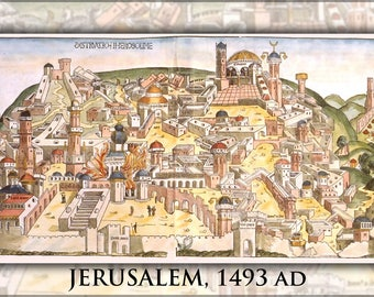 Poster, Many Sizes Available; Jerusalem From Nuremberg Chronicles 1493