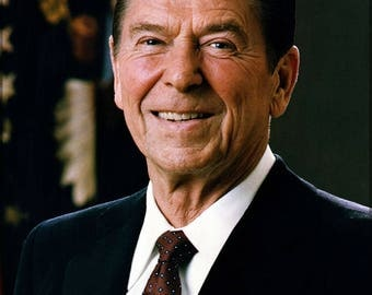 Poster, Many Sizes Available; President Ronald Reagan Official White House Portrait Of