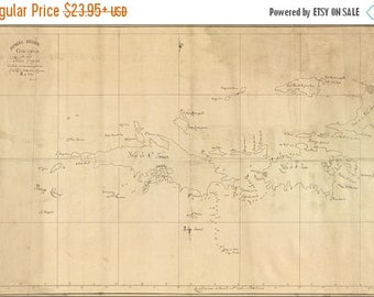 20% Off Sale - Poster, Many Sizes Available; Map Of British Virgin Islands 1793