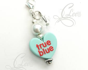 Valentine Heart Charm for Planner, Purse, Zipper, Key-chain or Luggage Bling!