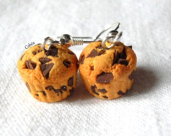 """""""Chocolate chip muffins"""" earrings"""