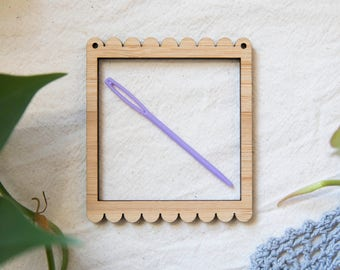 Tiny Square Bamboo Weaving Frame and Needle