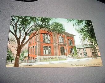 Original Antique Postcard The Public Library, HAVERHILL, MASS. Circa. 1915