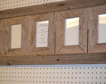 Special Order for Megamn, 5 x 7 (5) Place collage Rustic  Barnwood picture frame