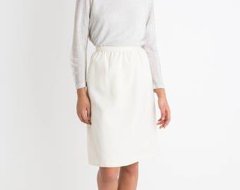 70s Cream High Waist Skirt XS