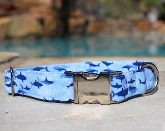 Shark Dog Collar | Dog Collar | Male Dog Collar | Female Dog Collar | Novelty Dog Collar | Pet Collar | Large Dog Collar | Small Dog Collar