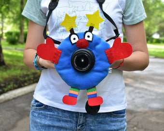 clown, camera buddies, camera lens buddy, toys, photographer helper.Camera Accessories,photo helper,funny face buddy