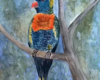 "Animal watercolor ""Parrot"""