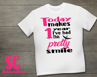 Girl Cleft Shirt, Smileversary, CleftStrong Shirt, Lip Repair Anniversary Shirt, CleftStrong Shirt, Cleft Lip and Palate Shirt