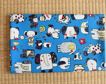 cotton color elephant fabric 1/2 yard