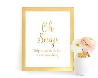 Wedding Hashtag Sign, Hashtag Sign Printable, Hashtag Wedding Sign, Faux Gold Foil Wedding Hashtag Sign, Hashtag, GFWF