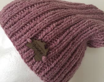 Knitted pink slouchy beanie, pink slouch, ladies beanie,slouchy beanie, pink beanie, pink slouchy beanie, pink alpaca beanie,ladies hat