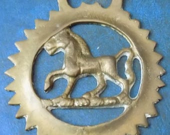 Rare vintage HORSE BRASS HORSE Passant Design Made in England